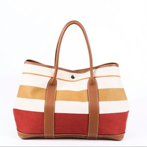 HERMES MM striped tote 👜